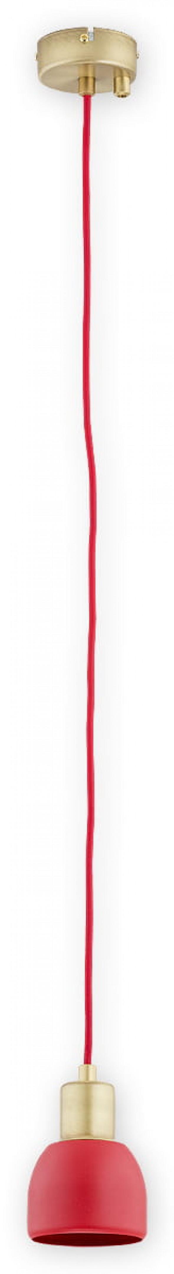 Piu zwis 1 pł. (na 2 przewody) / patyna + czerwony