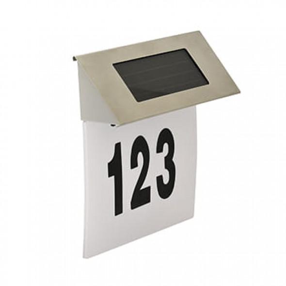 Podświetlany numer domu solarny