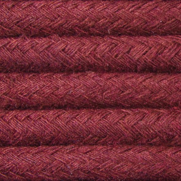 Kabel w oplocie bawełnianym 2 x 0,75 - bordo
