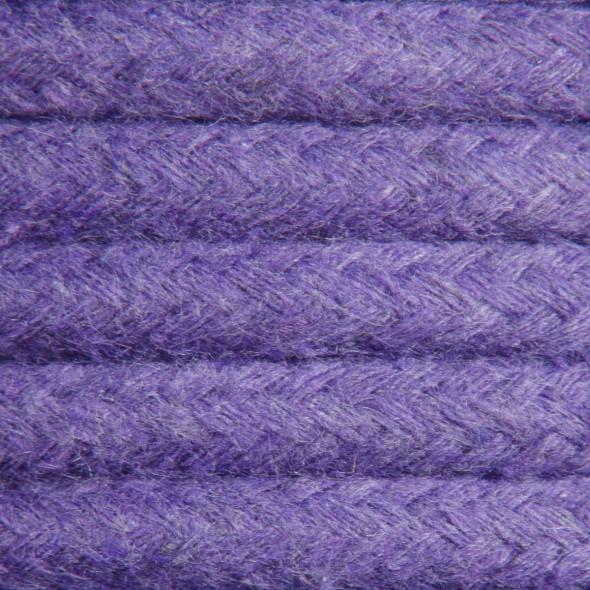 Kabel w oplocie bawełnianym 2 x 0,75 - fioletowy