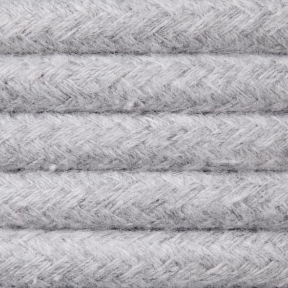 Kabel w oplocie bawełnianym 2 x 0,75 - jasnoszary