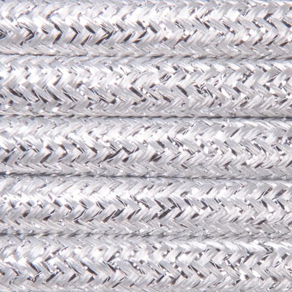 Kabel w oplocie brokatowym 2 x 0,75 - srebrny