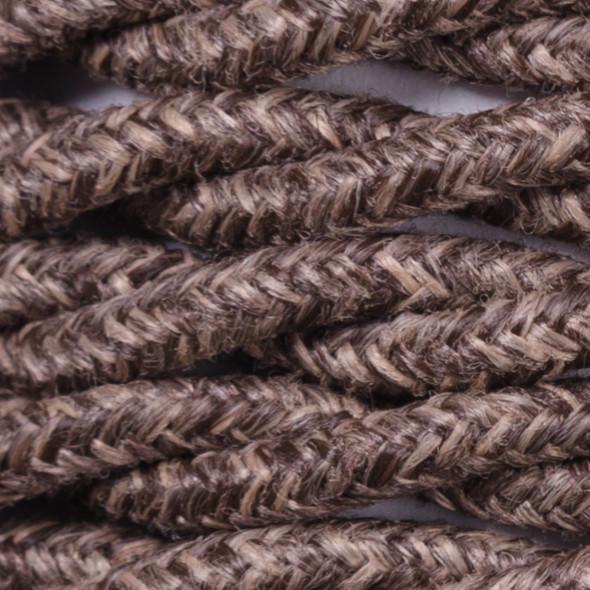 Kabel w oplocie lnianym 2 x 0,75 - skręcony - brązowy