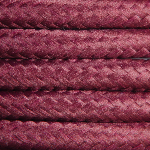 Kabel w oplocie poliestrowym 2 x 0,75 - buraczkowy