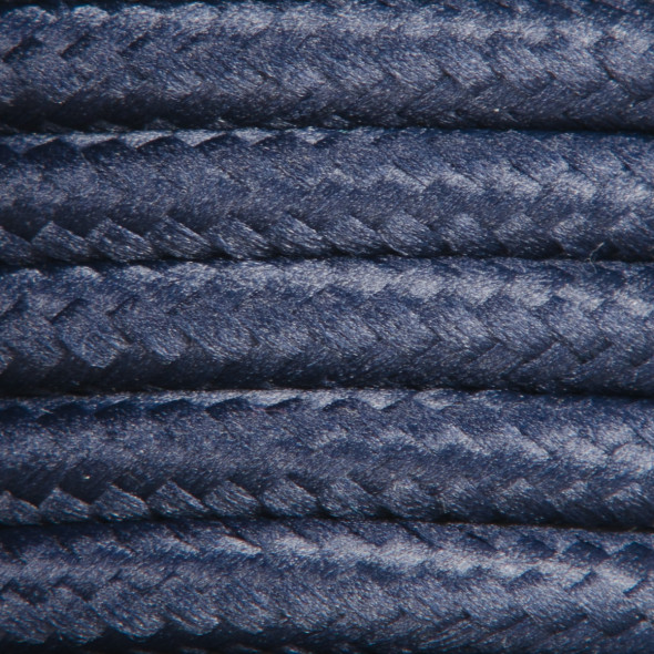 Kabel w oplocie poliestrowym 2 x 0,75 - granatowy