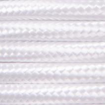 Kabel w oplocie poliestrowym 3 x 0,75 - biały