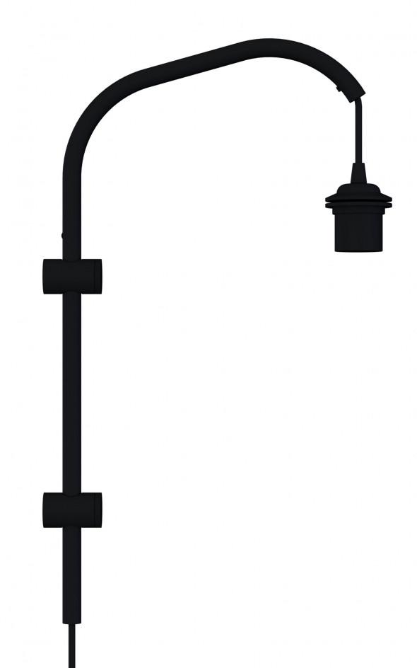 Ramię do lampy ściennej Willow mini UMAGE (dawniej VITA Copenhagen) - czarne /Kolor: Czarny/