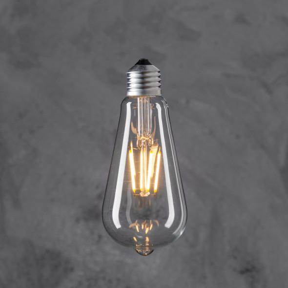 Żarówka dekoracyjna Edison ST 64 LED 4W - Transparent