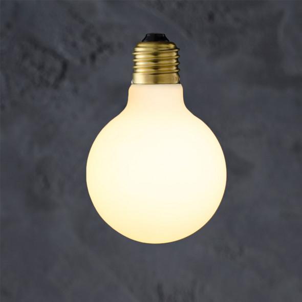 Żarówka dekoracyjna Globe 80 Porcelain LED 6W