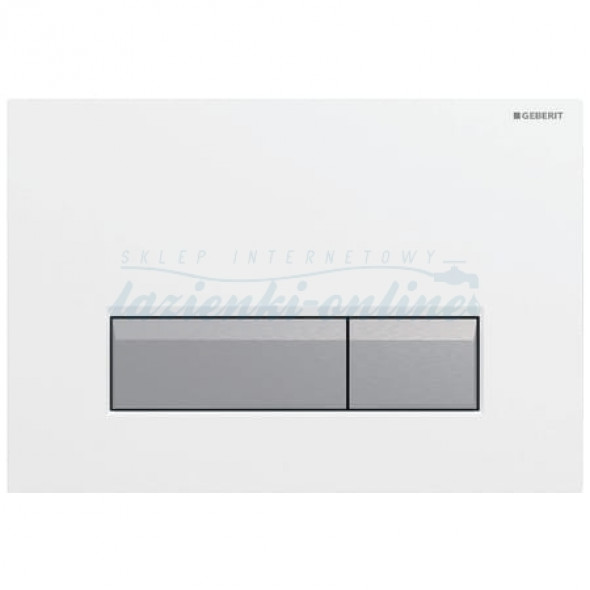 Geberit Sigma40 przycisk uruchamiający do spłuczek z odciągiem biały/szczotkowane aluminium 115.600.KQ.1