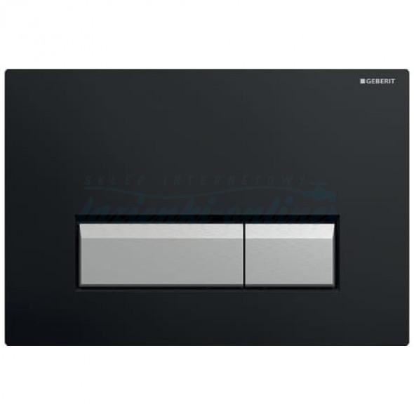 Geberit Sigma40 przycisk uruchamiający do spłuczek z odciągiem czarny/szczotkowane aluminium 115.600.KR.1
