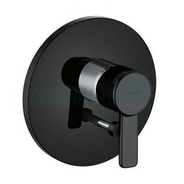Kludi Zenta black bateria wannowa podtynkowa element zewnętrzny 386508675