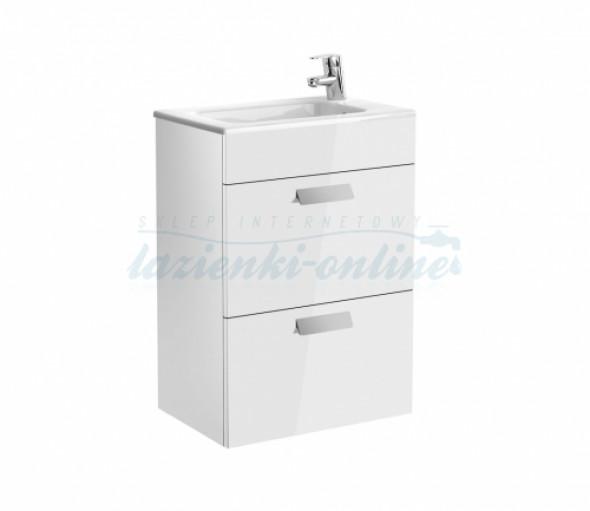 Roca Debba Unik Compacto zestaw łazienkowy z 2 szufladami 50x36cm, biały połysk A855904806