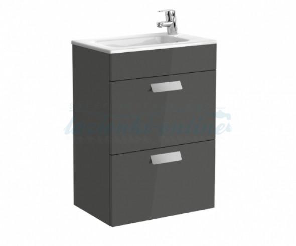 Roca Debba Unik Compacto zestaw łazienkowy z 2 szufladami 50x36cm, szary antracyt A855904153