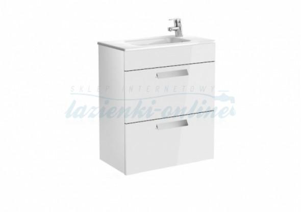 Roca Debba Unik Compacto zestaw łazienkowy z 2 szufladami 60x36cm, biały połysk A855905806