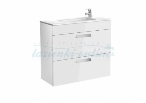 Roca Debba Unik Compacto zestaw łazienkowy z 2 szufladami 80x36cm, biały połysk A855907806