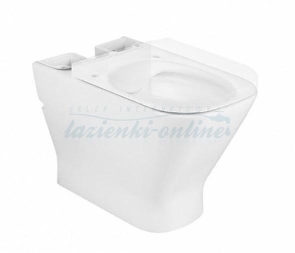 Roca Gap Square Rimless MaxiClean miska kompaktowa WC bez deski A34273700M