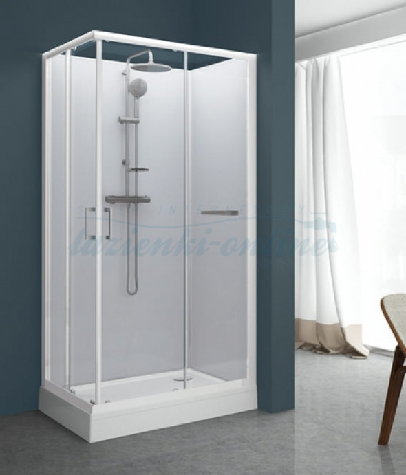Sanplast Classic IIa kabina czterościenna prostokątna 80x100 cm biała KCKN/CLIIa-80x100 602-011-0051-01-4B1