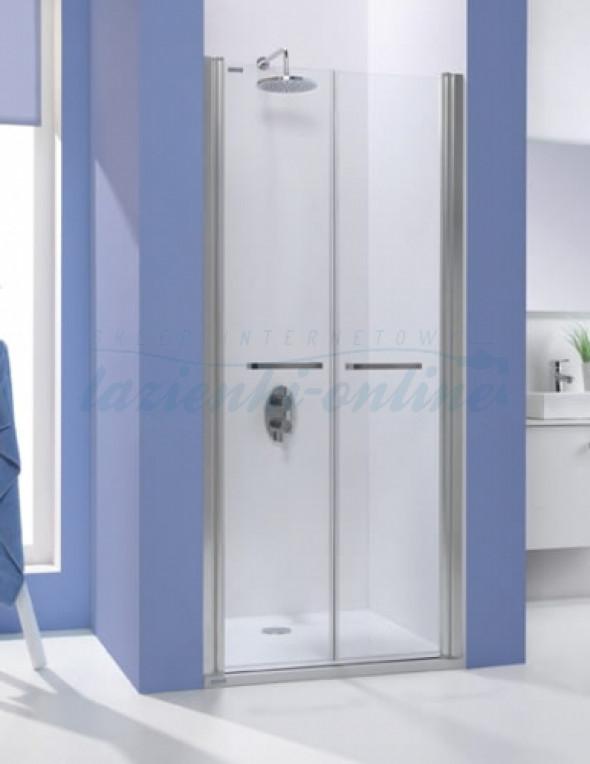 Sanplast Prestige III drzwi skrzydłowe 110 cm, srebrny połysk DD/PRIII-110 600-073-0950-38-401