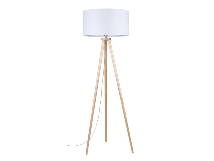 LAMPA STOJĄCA TRÓJNÓG drewno brzoza + biały 1xE27 ENNIE