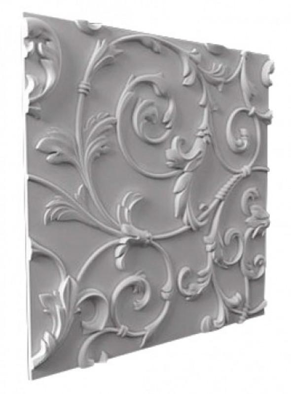 EXCLUSIVE - Dekoracyjny Panel Ścienny 3D Z Gipsu Ceramicznego