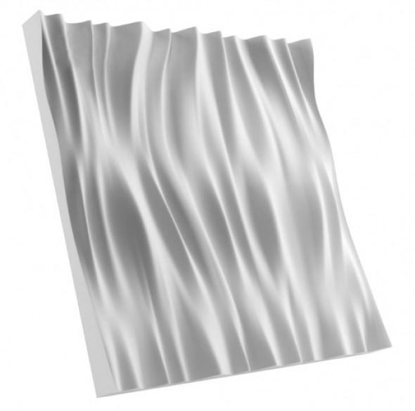 FALA 2 - Dekoracyjny Panel Ścienny 3D Z Gipsu Ceramicznego