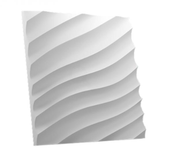 ŁUKOS FALA - Dekoracyjny Panel Ścienny 3D Z Gipsu Ceramicznego