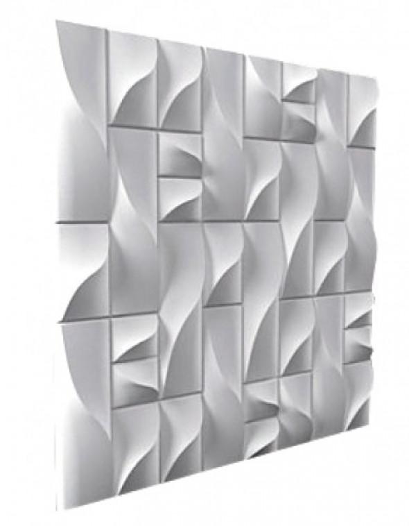 ROKOKOKO - Dekoracyjny Panel Ścienny 3D Z Gipsu Ceramicznego