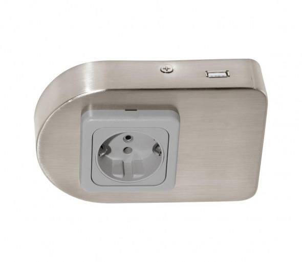 Eglo 94662  - Gnizdo podszafkowe z USB TAXANO