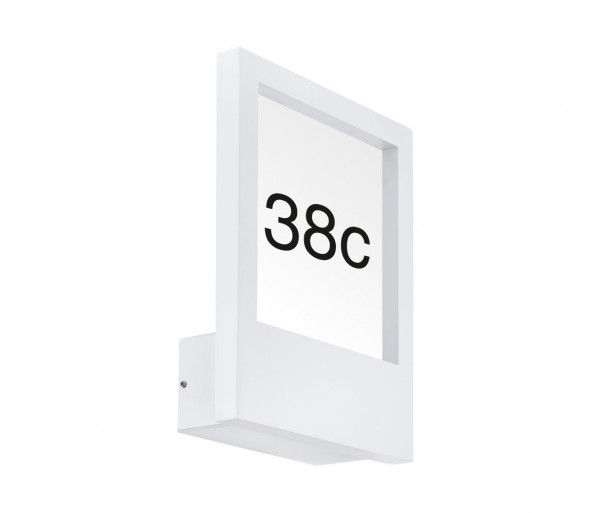 Eglo 98143 - Numer domu MONTEROS 1xE27/28W/230V IP44 biały