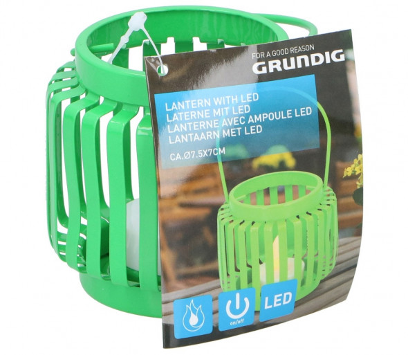 Grundig - LED Latarnia LED/1xCR2032 zielony