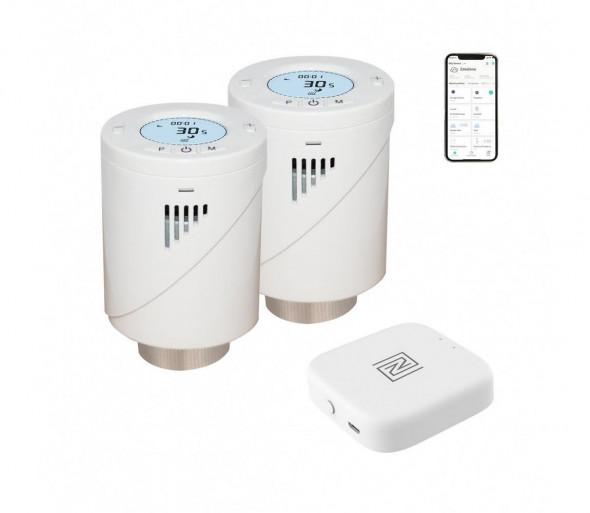 Immax 07703B - 2x NEO Smart Zawór termostatu Zigbee + BRIDGE PRO v2 2xAA / 3V