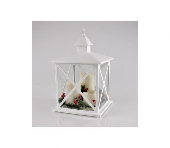 LED Dekoracja świąteczna 3xLED/3xAAA lampion białe świeczki