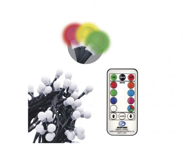 LED Dekoracyjny łańcuch ze zdalnym sterowaniem CHAIN 96xLED/3,6W/230V IP44