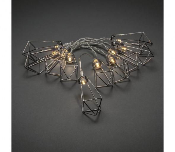 LED Łańcuch ozdobny LANTERNS 0,9 m 10xLED/3xAA
