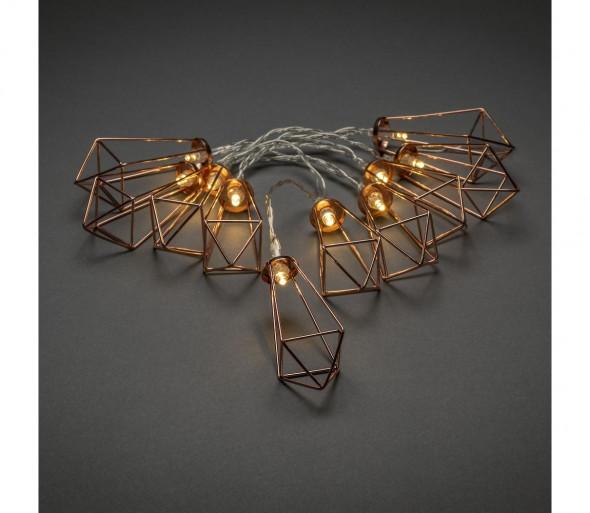 LED Łańcuch ozdobny LANTERNS 0,9 m10xLED/3xAA