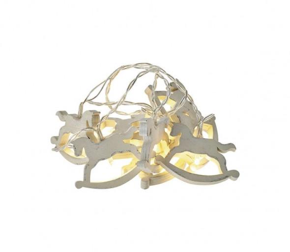 LED Łańcuch świąteczny CHAIN 10xLED/0,6W/2xAA