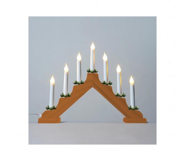 LED Świecznik świąteczny FILAMENT 7xLED/0,2W/230V