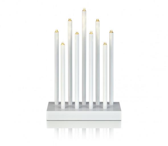 Markslöjd 702588 - LED Świąteczny świecznik VIIK 9xLED/0,54W/230/3V biały