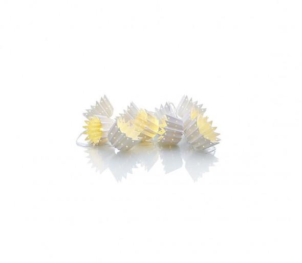 Markslöjd 703863 - LED Łańcuch świąteczny LEAF 10xLED/0,3W/3xAA 185cm kosze