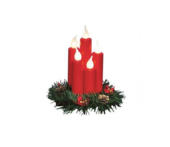 Markslöjd 704017 - LED Świecznik świąteczny HANNA 5xE10/0,06W/230V