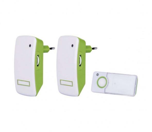 SET 2x Bezprzewodowy dzwonek do drzwi wtykowy 230V