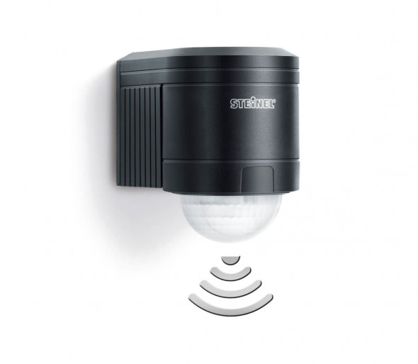 STEINEL 602710 - Zewnętrzny czujnik ścienny na podczerwień IS240 czarny IP54