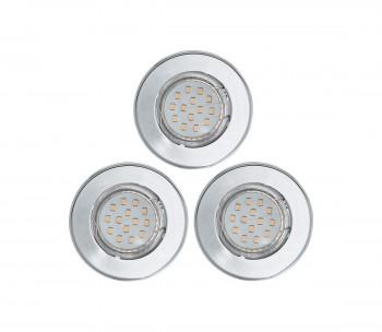 ZESTAW 3x LED oczko halogenowe 3xGU10/3W/230V IGOA chrom połysk