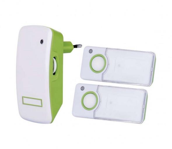 Zestaw Bezprzewodowy dzwonek do drzwi wtykowy  i 2x przycisk 230V