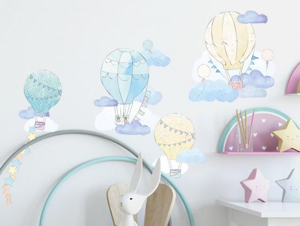 BALONY   naklejka do pokoju dziecięcego - różne kolory - Pastelowelove miętowy, matowe