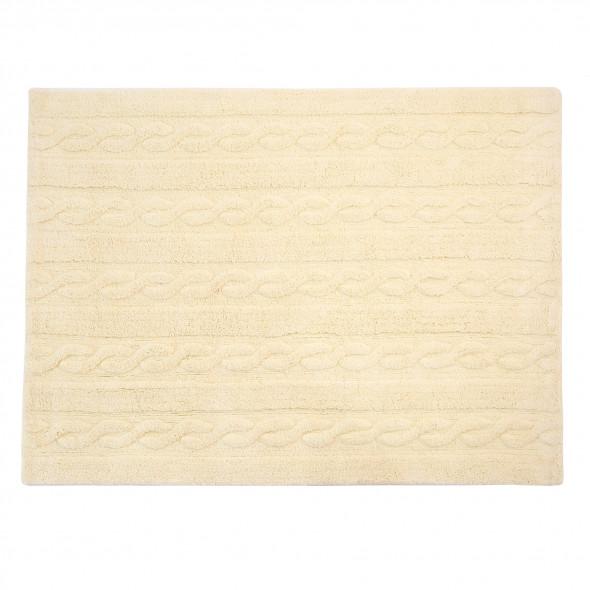 Dywan bawełniany TRENZAS - różne kolory - Lorena Canals waniliowy, 120 x 160 cm
