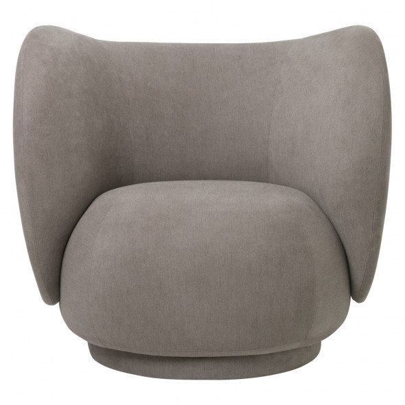 Fotel RICO - ferm LIVING Brushed - Grey | szary