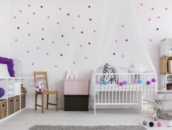 KONFETTI 1   naklejki do pokoju dziecięcego - Pastelowelove