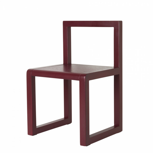 Krzesełko dla dziecka LITTLE ARCHITECT - różne kolory - ferm LIVING bordowy | bordeaux